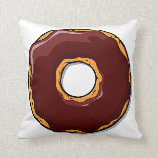 Cartoon Chocolate Donut Design Cushion
