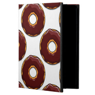 Cartoon Chocolate Donut Design iPad Air Cover
