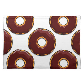 Cartoon Chocolate Donut Design Placemat