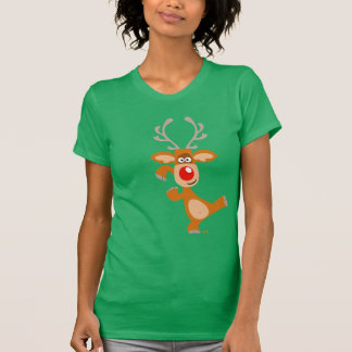 Cartoon Christmas reindeer Women T-shirt
