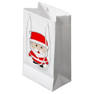 Cartoon Christmas Santa Claus Small Xmas Gift Bag