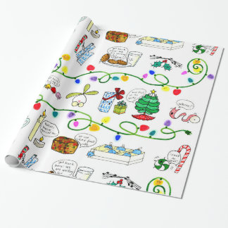 Cartoon Christmas Wrapping Paper