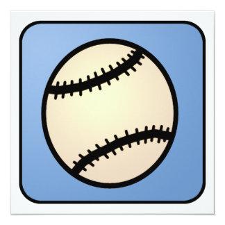 Cartoon Clip Art Ball Baseball Glove Boy Birthday 13 Cm X 13 Cm Square Invitation Card