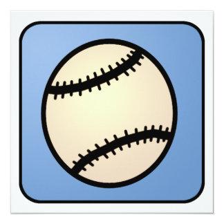 Cartoon Clip Art Baseball Boy Birthday 13 Cm X 13 Cm Square Invitation Card