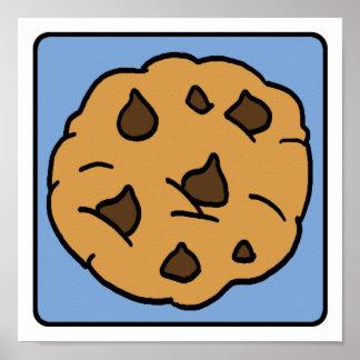 Cartoon Clip Art Chocolate Chip Cookie Dessert Posters