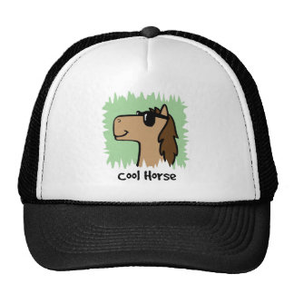 Cartoon Clip Art Cool Horse Wearing Sunglasses Mesh Hat