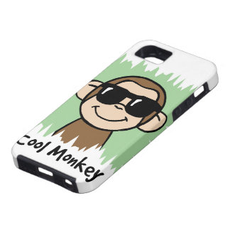 Cartoon Clip Art Cool Monkey with Sunglasses iPhone 5 Cases