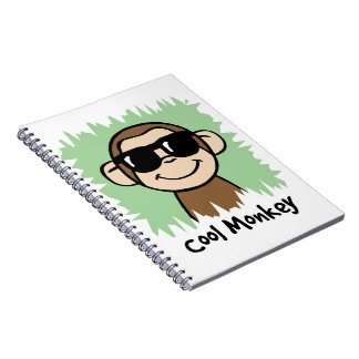 Cartoon Clip Art Cool Monkey with Sunglasses Note Books