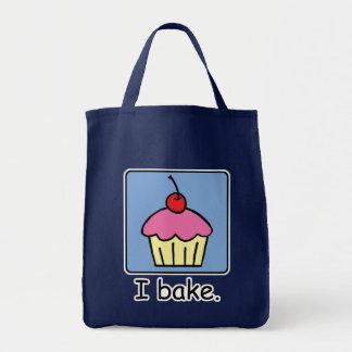 Cartoon Clip Art Cupcake Dessert Pink Frosting Tote Bag