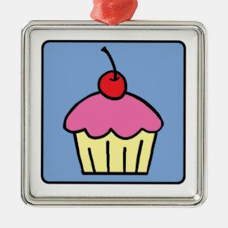 Cartoon Clip Art Cupcake Frosting Cherry Dessert Ornament