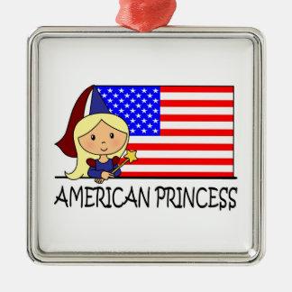 Cartoon Clip Art Cute American Princess Flag Christmas Ornaments