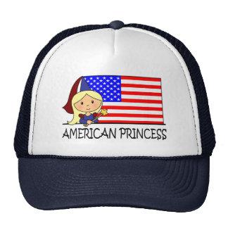 Cartoon Clip Art Cute American Princess Flag Mesh Hat