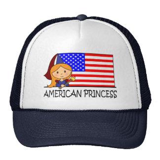 Cartoon Clip Art Cute American Princess Flag Hats