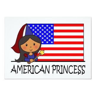 Cartoon Clip Art Cute American Princess Flag Personalized Invites