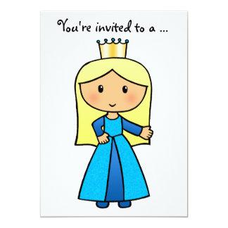 Cartoon Clip Art Cute Blond Princess Bridal Shower Custom Invites