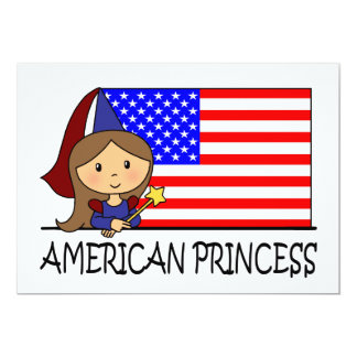 Cartoon Clip Art Cute Princess Girl Birthday Party Custom Announcements