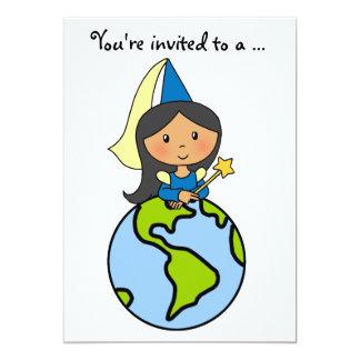 Cartoon Clip Art Cute Princess Girl Birthday Party 13 Cm X 18 Cm Invitation Card