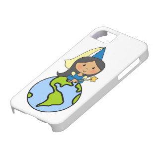 Cartoon Clip Art Cute Princess on Top of the World iPhone 5 Cover