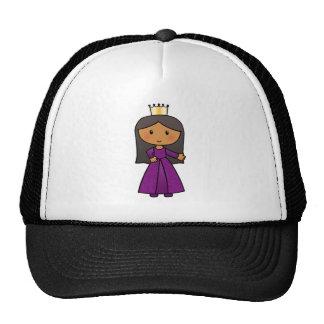 Cartoon Clip Art Cute Princess with Tiara Mesh Hats