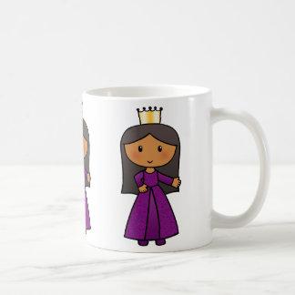 Cartoon Clip Art Cute Princess with Tiara Mug