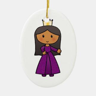 Cartoon Clip Art Cute Princess with Tiara Ornament