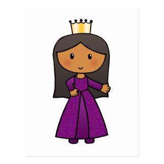 Cartoon Clip Art Cute Princess with Tiara Postcards
