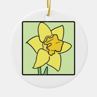 Cartoon Clip Art Daffodil Spring Garden Flower Ornaments