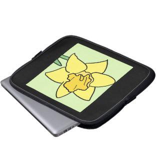 Cartoon Clip Art Daffodil Spring Garden Flower Laptop Computer Sleeve