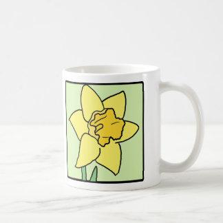 Cartoon Clip Art Daffodil Spring Garden Flower Coffee Mugs