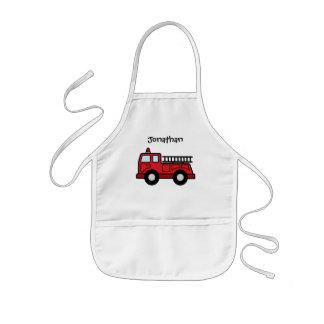 Cartoon Clip Art Firetruck Emergency Vehicle Truck Kids Apron