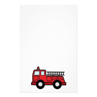 Cartoon Clip Art Firetruck Emergency Vehicle Truck Stationery Design
