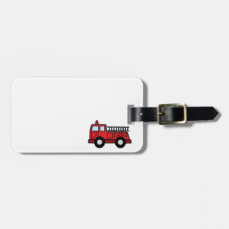 Cartoon Clip Art Firetruck Emergency Vehicle Truck Tag For Bags