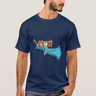 Cartoon Clip Art Flying Fairy Princess Magic Wand T-Shirt