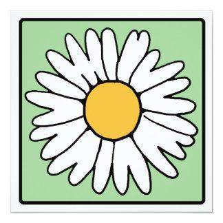 Cartoon Clip Art Garden Gerber Daisy Bridal Shower 13 Cm X 13 Cm Square Invitation Card