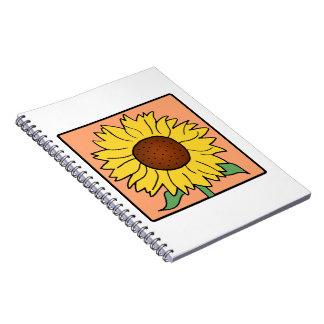 Cartoon Clip Art Garden Summer Sunflower Flower Note Books