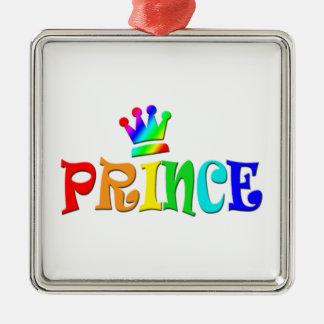 Cartoon Clip Art Rainbow Text, Prince and Crown Christmas Ornaments