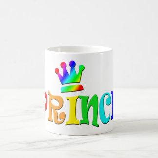 Cartoon Clip Art Rainbow Text, Prince and Crown Coffee Mugs