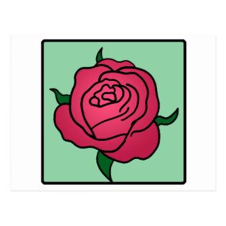 Cartoon Clip Art Valentine's Day Red Rose Flower Postcard
