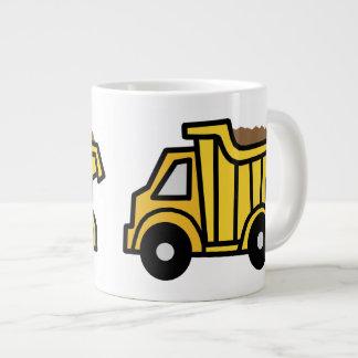Cartoon Clip Art with a Construction Dump Truck Jumbo Mug