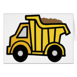 Cartoon Clip Art with a Construction Dump Truck Note Card