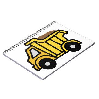Cartoon Clip Art with a Construction Dump Truck Note Books