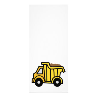 Cartoon Clip Art with a Construction Dump Truck Rack Card