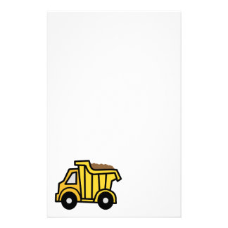 Cartoon Clip Art with a Construction Dump Truck Personalized Stationery