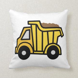 Cartoon Clip Art with a Construction Dump Truck Throw Pillow