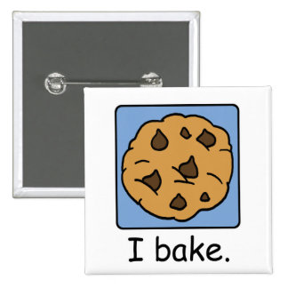 Cartoon Clip Art Yummy Chocolate Chip Cookie Pinback Buttons
