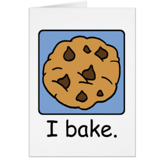 Cartoon Clip Art Yummy Chocolate Chip Cookie Stationery Note Card