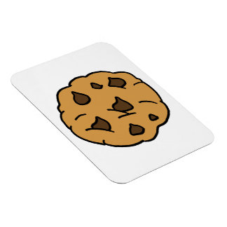 Cartoon Clipart HUGE Chocolate Chip Cookie Dessert Magnets
