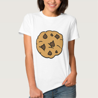 Cartoon Clipart HUGE Chocolate Chip Cookie Dessert T-shirts