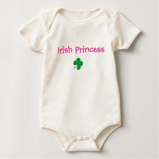 cartoon clover, Irish Princess Baby Bodysuit