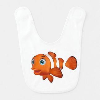 Cartoon Clown Fish Bib